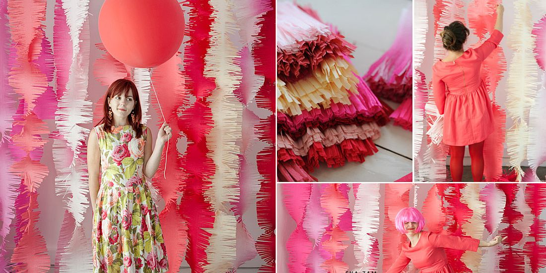 Fringe Garlands DIY Idea for colorful New Year's Party