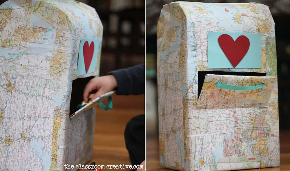 Fun mailbox idea with maps