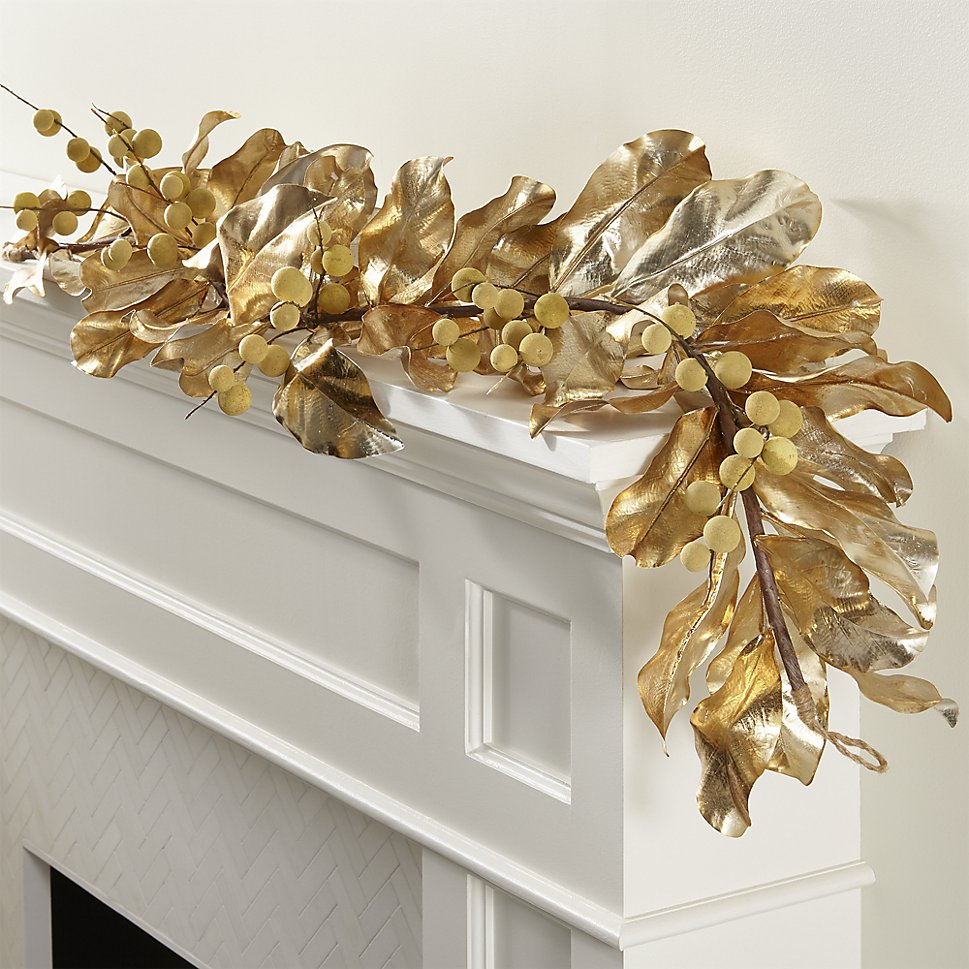 Gold garland from Crate & Barrel