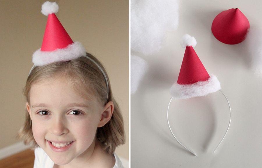 Homemade Mini Santa Hats