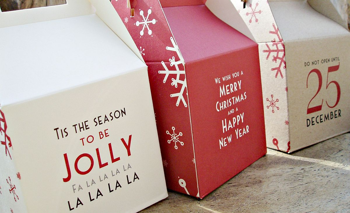 Let your Holiday Gift Boxes spread the message of joy!
