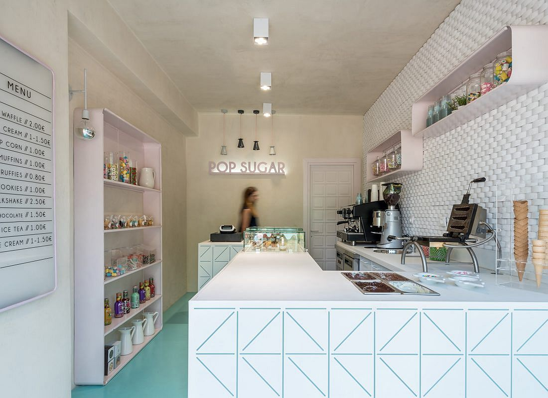 Look inside the trendy and popular Greek Sweet Shop with innovative design