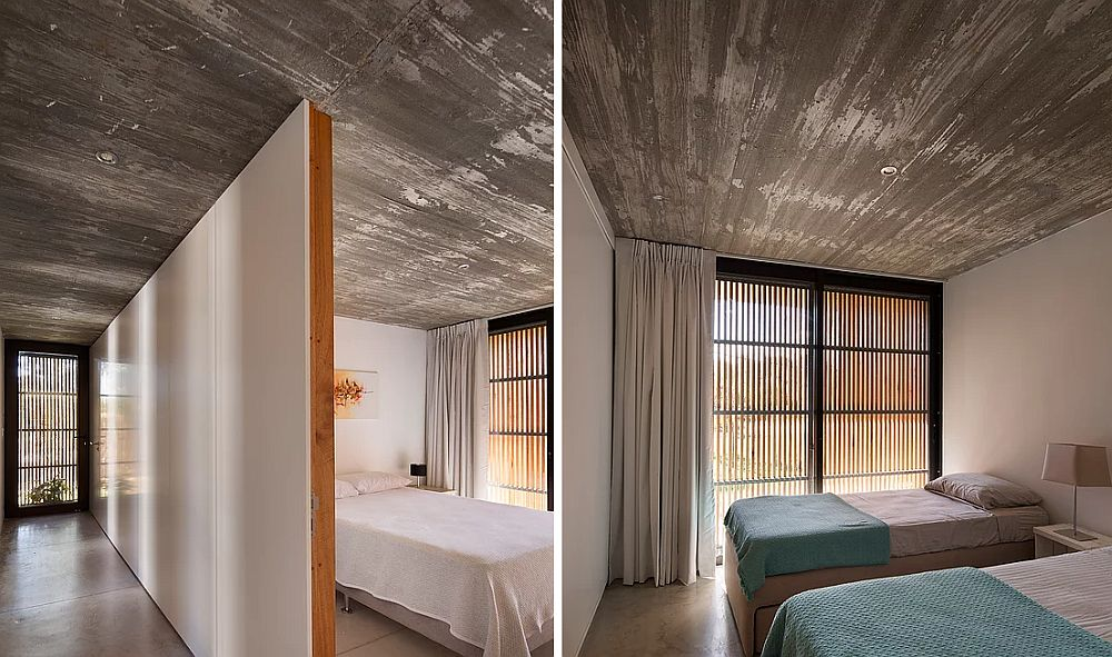 Look inside the two breezy bedrooms of the home in Montevideo