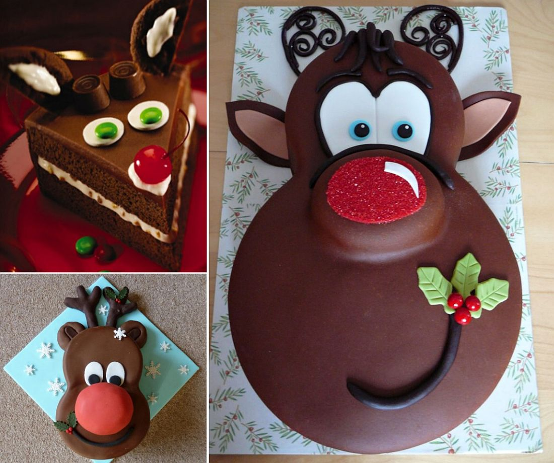 Make your own Christmas Rudolph Cake for a tasty treat