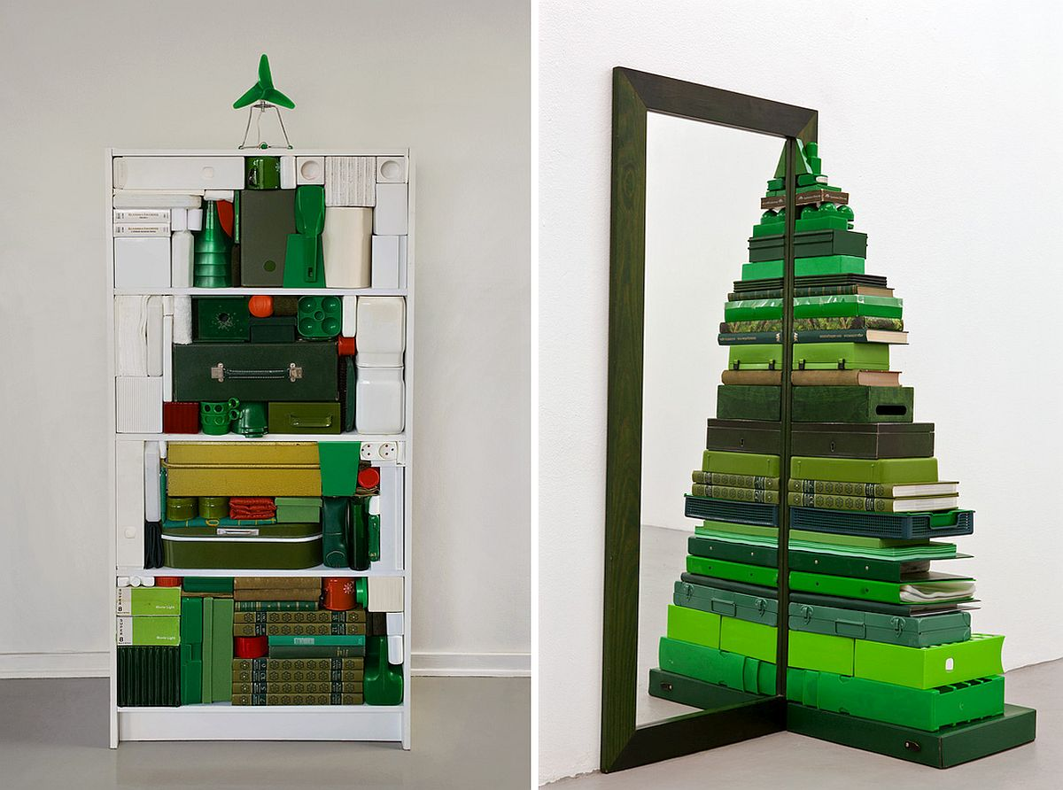 Make your own Christmas Tree with decor in similar color