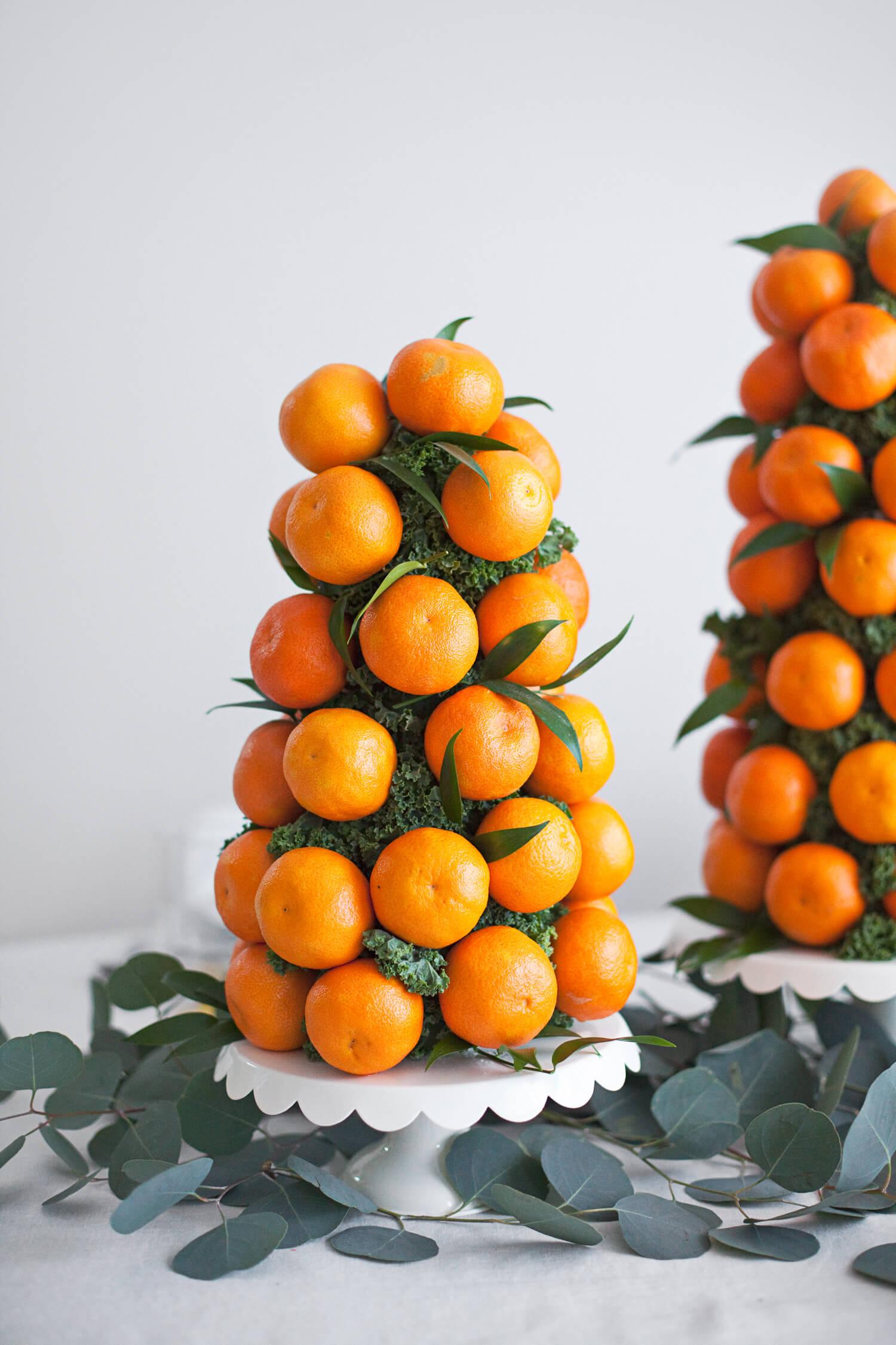 Mandarin orange tower centerpiece