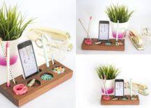 Modern-Desk-Organizer-crafted-using-a-Block-of-Wood-217x155