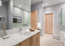 Modern-bathroom-in-gray-white-and-wood-217x155