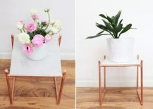 Modern-copper-pipe-and-marble-DIY-plant-stand-also-doubles-as-side-table-217x155