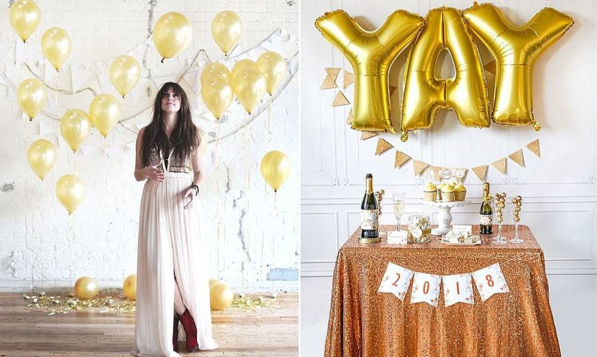 18 Easy DIY New Year's Eve Party Ideas to Welcome 2018