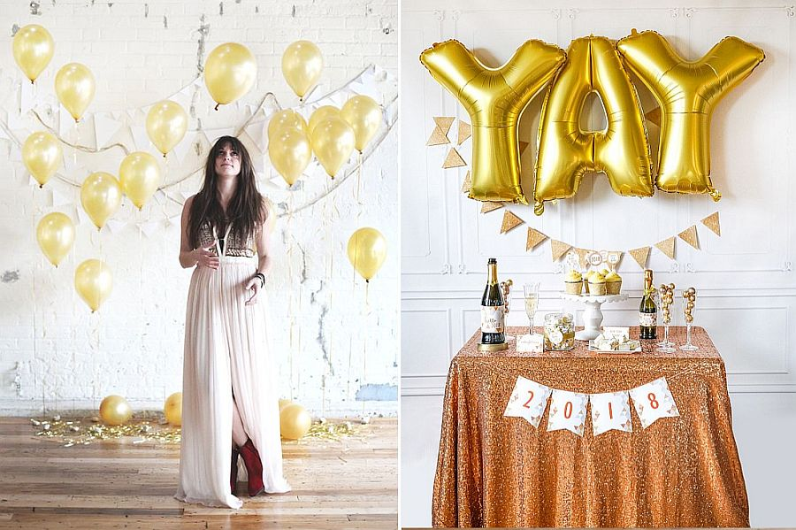 18 Easy Diy New Year S Eve Party Ideas To Welcome 2018