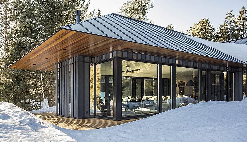 Magical vermont weekend retreat with custom board and batten exterior Exterior board and batten spacing