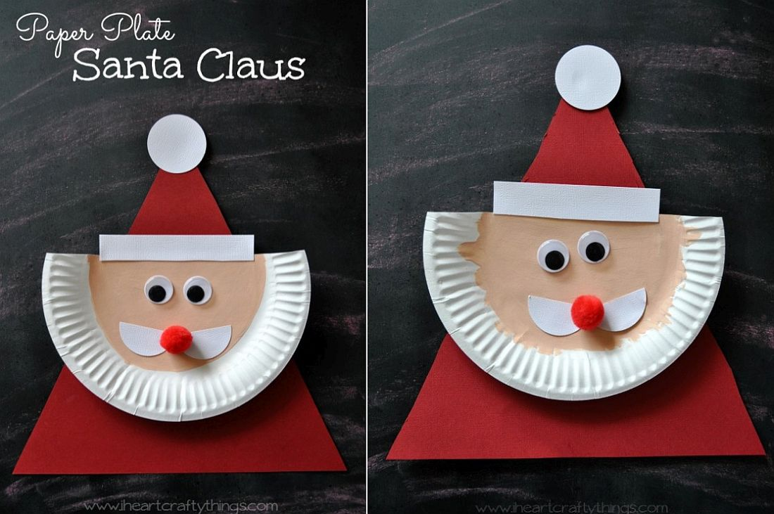 jolly santa paper plate craft 10 easy diy santa crafts to get your home ready for 6859
