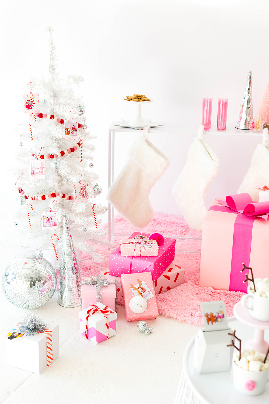 Pink Christmas party fun