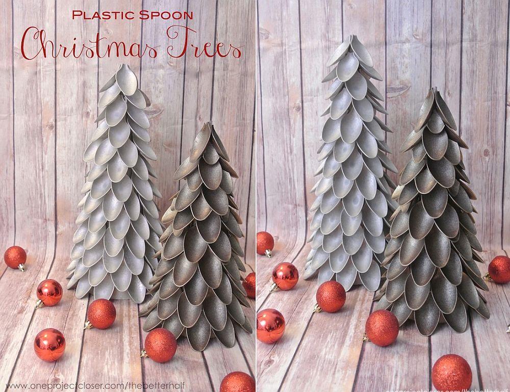 Plastic Spoon Christmas Tree DIY