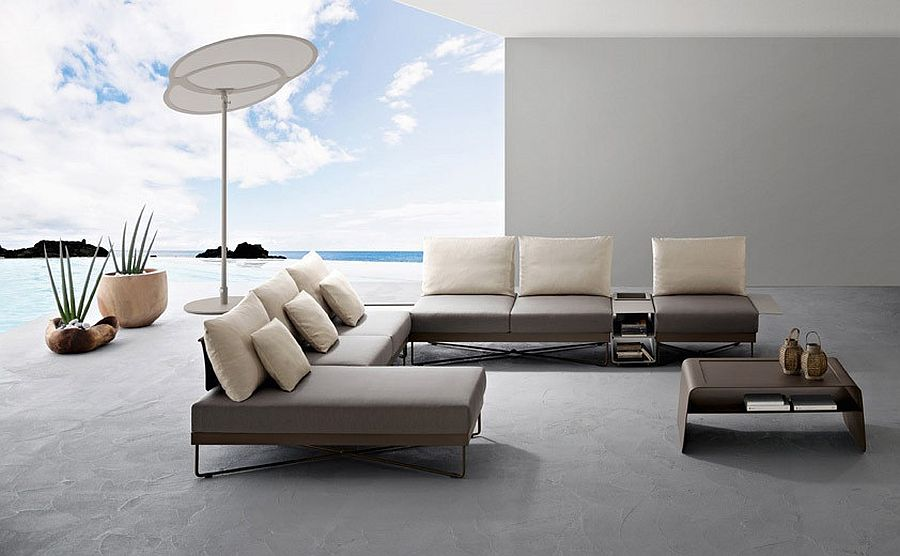 Polished outdoor furniture with clean and refined modern design