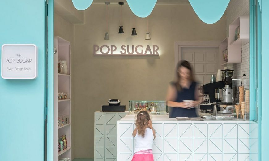 Exquisite Little Sweet Shop with Façade Inspired by Melting Chocolate