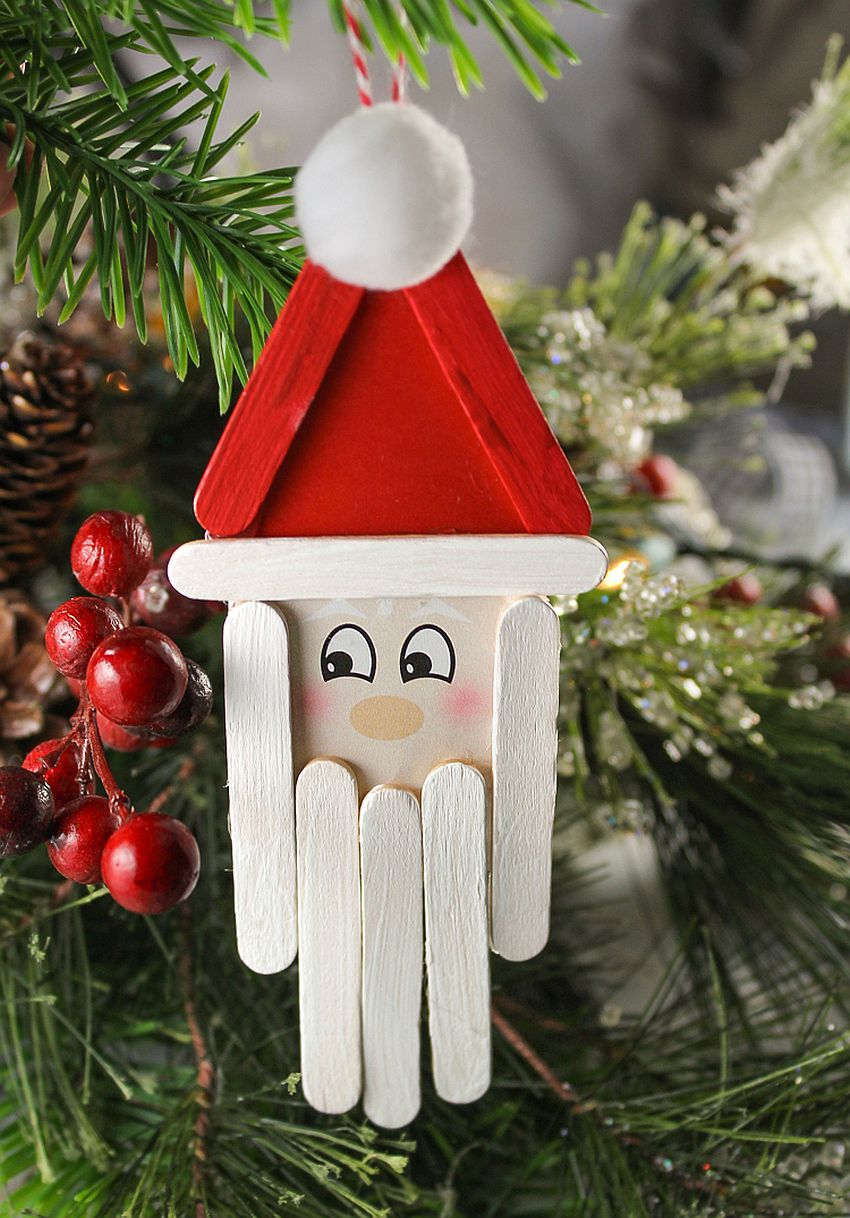 10 easy diy santa crafts to get your home ready for christmas for Christmas projects with popsicle sticks