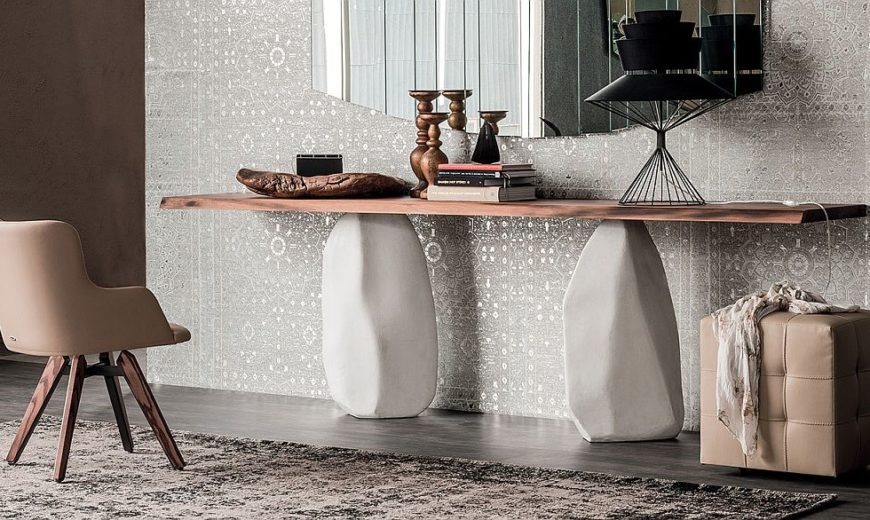 6 Contemporary Console Tables with Fascinating Geo and Textural Style