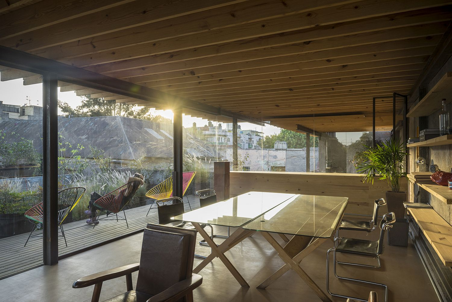 Renovated house in Mexico turned into art gallery, workshop and office space