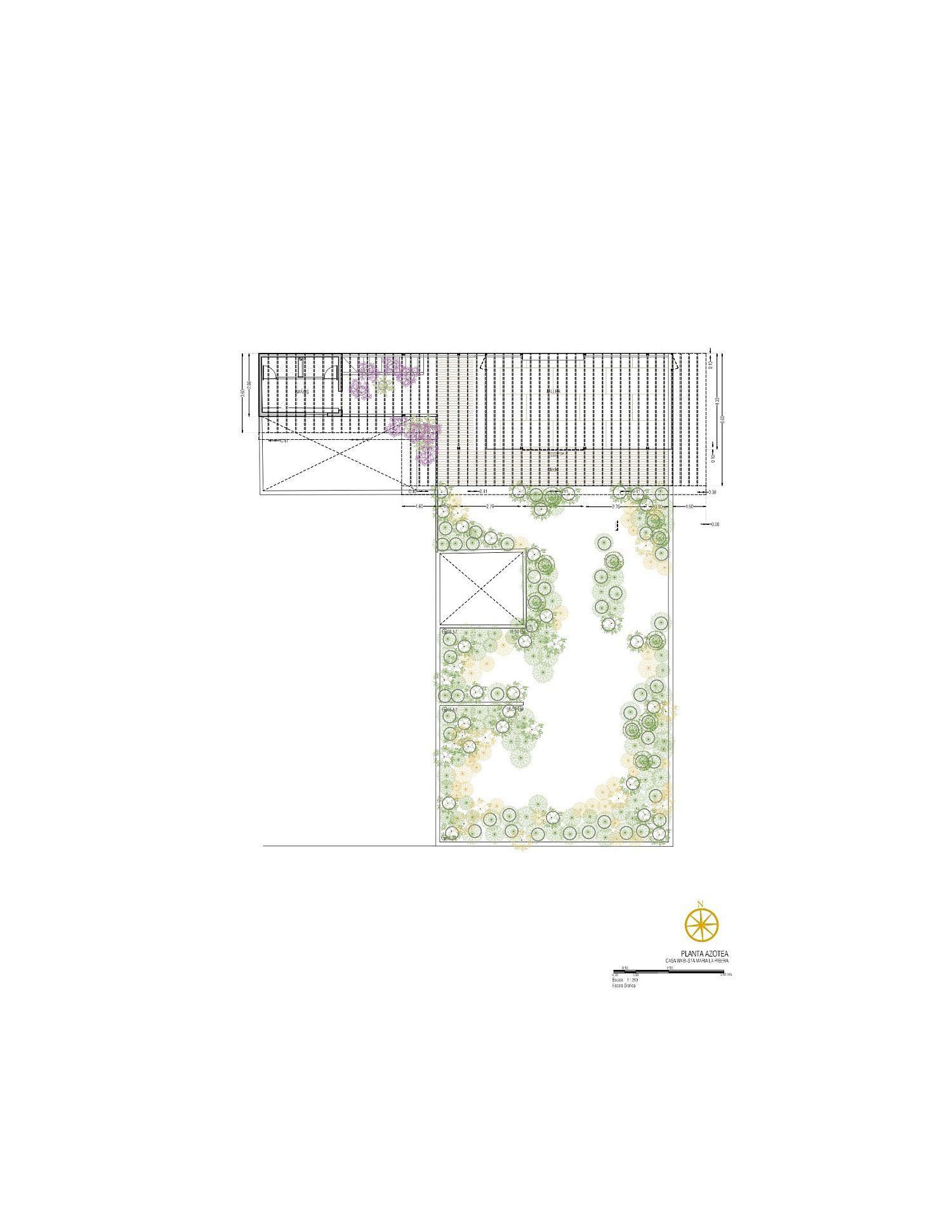 Roof level floor plan