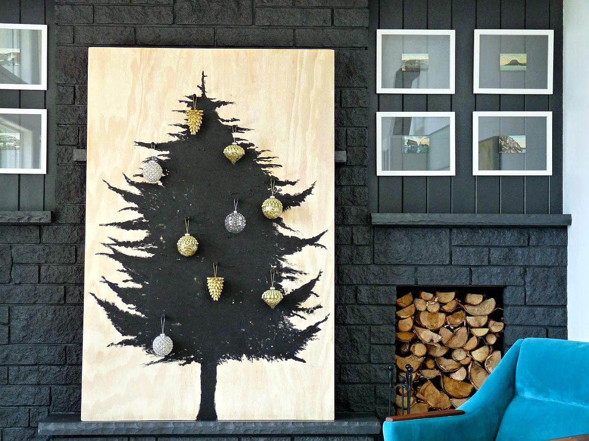 Scandinavian-inspired DIY wooden Christmas tree idea