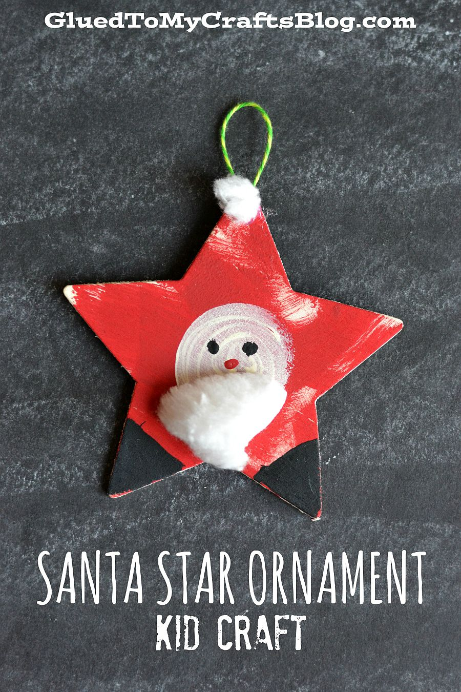 Simple and easy Santa Ornament for Christmas tree