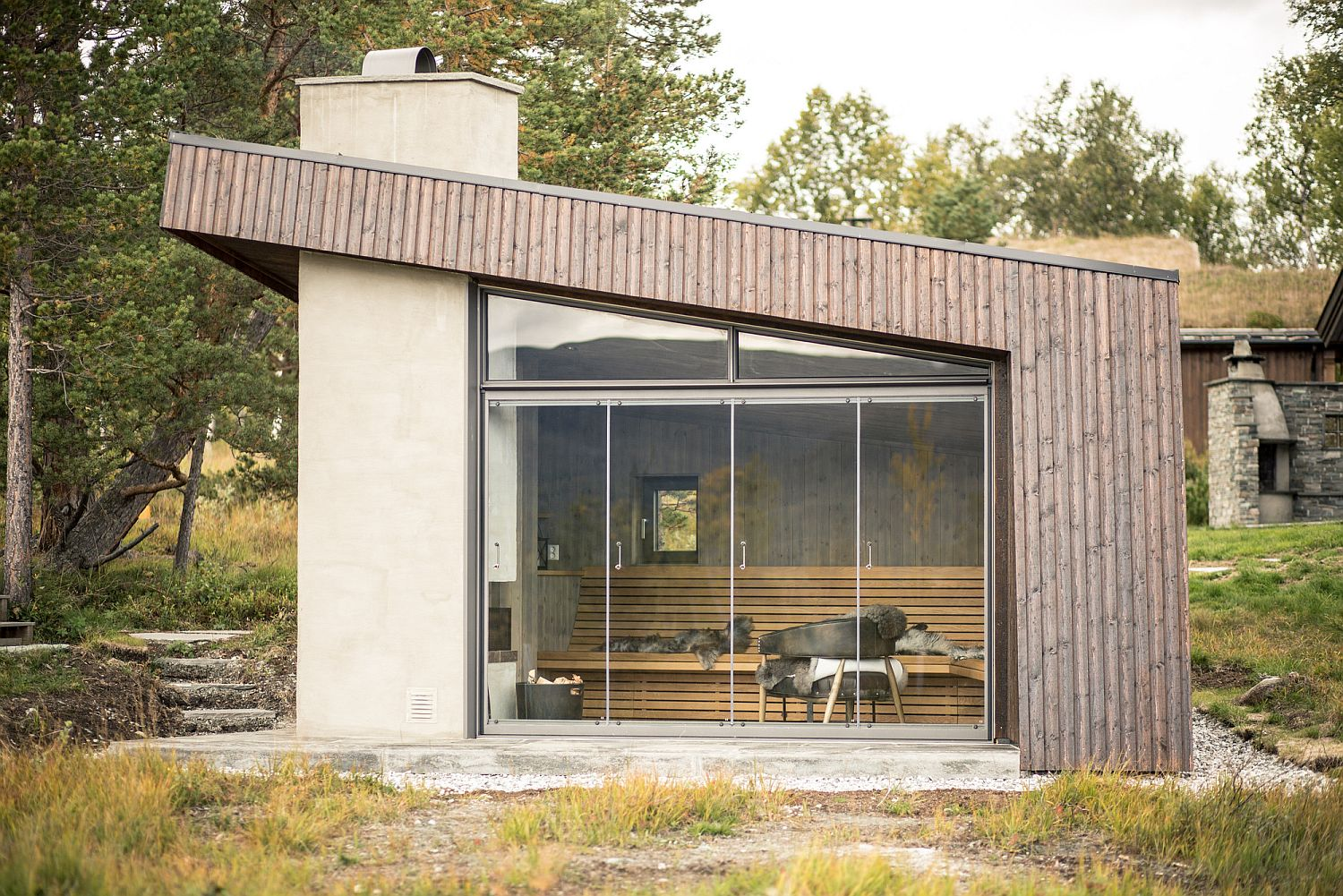 Sliding glass doors for the cabin in Norway
