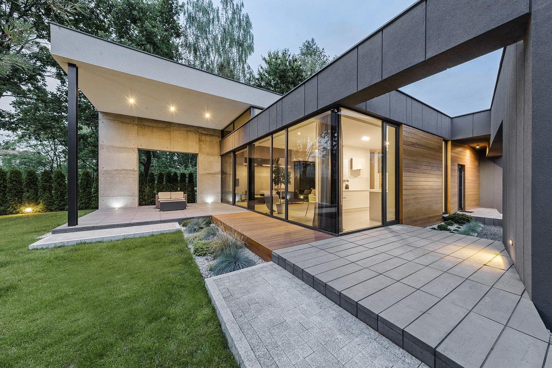 Sliding glass doors for the living room