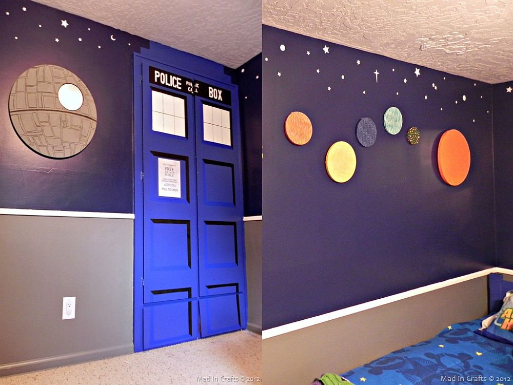 Space-themed kids' bedroom is full of DIY delights