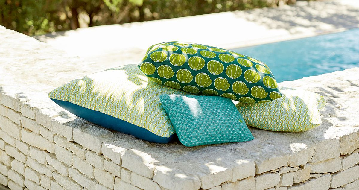 Stain and mould resistant outdoor cushions can be used even next to the pool