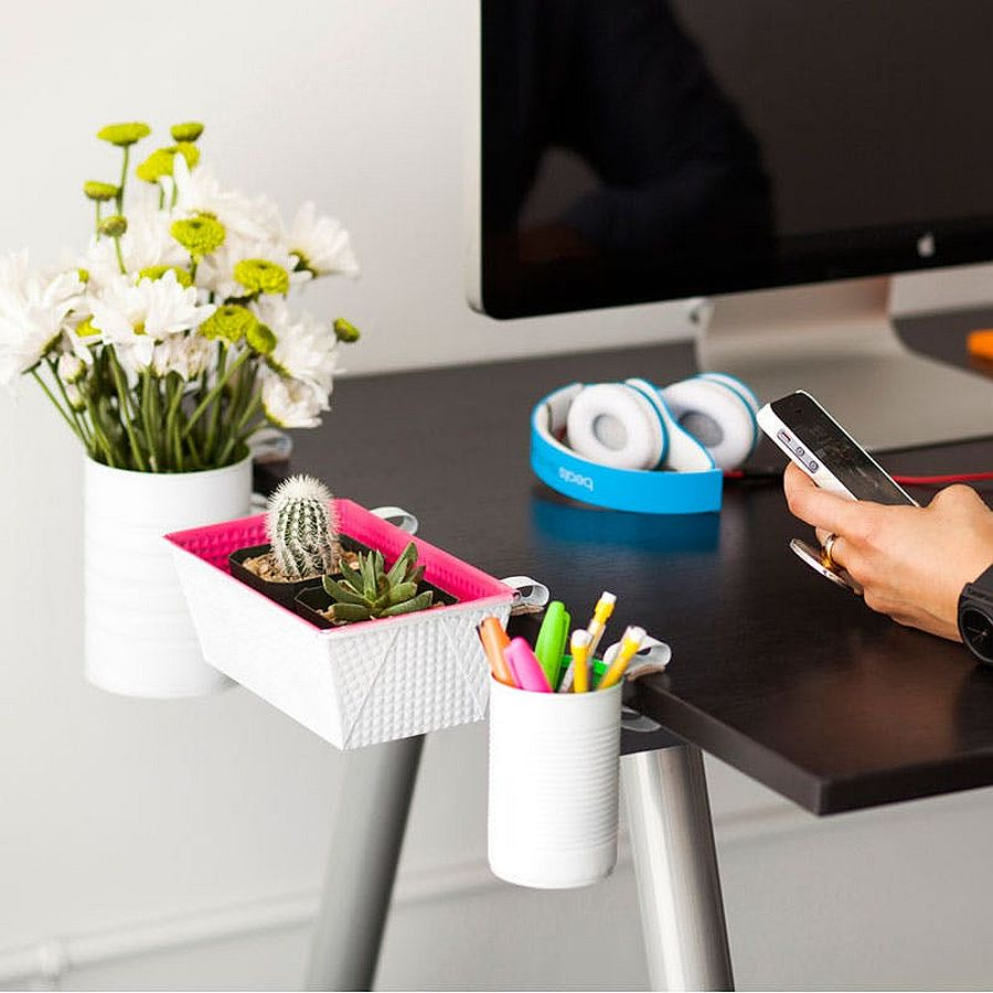 Trendy and space-savvy DIY Clip-On Desk Organizers