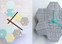Trendy-hexagonal-wall-clock-217x155