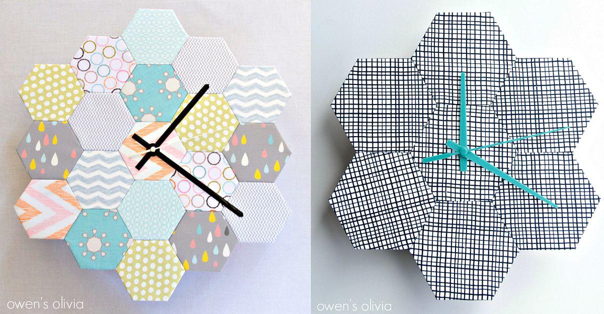 Trendy hexagonal wall clock