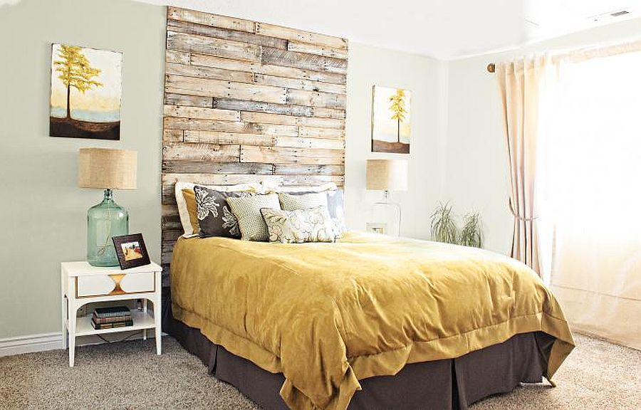 Turn those old wooden pallets into a headboard