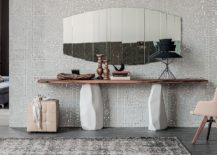 Unique-cement-legs-of-the-console-table-make-it-an-outstanding-living-room-addition-217x155