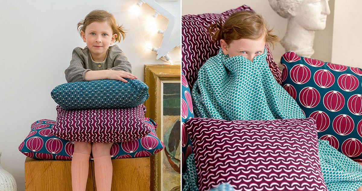 Use cushions with multiple patterns to create a cozy hangout outdoors