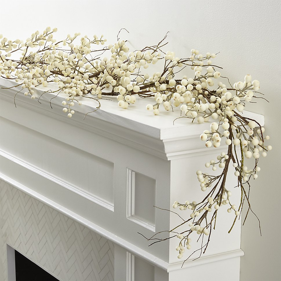 White berry garland adds a wintry touch