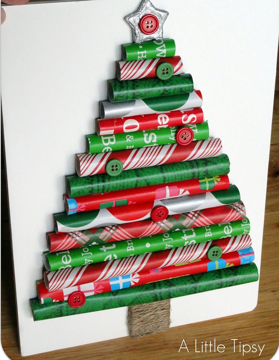 Wrapping Paper Christmas Tree Idea