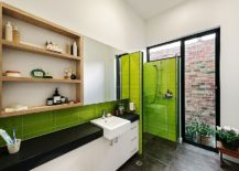 A-touch-of-lime-green-brings-brightness-to-the-contemporary-kitchen-217x155