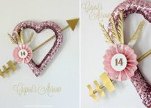 Awesome-Valentines-Day-wreath-also-incorporates-a-Cupids-Arrow-217x155