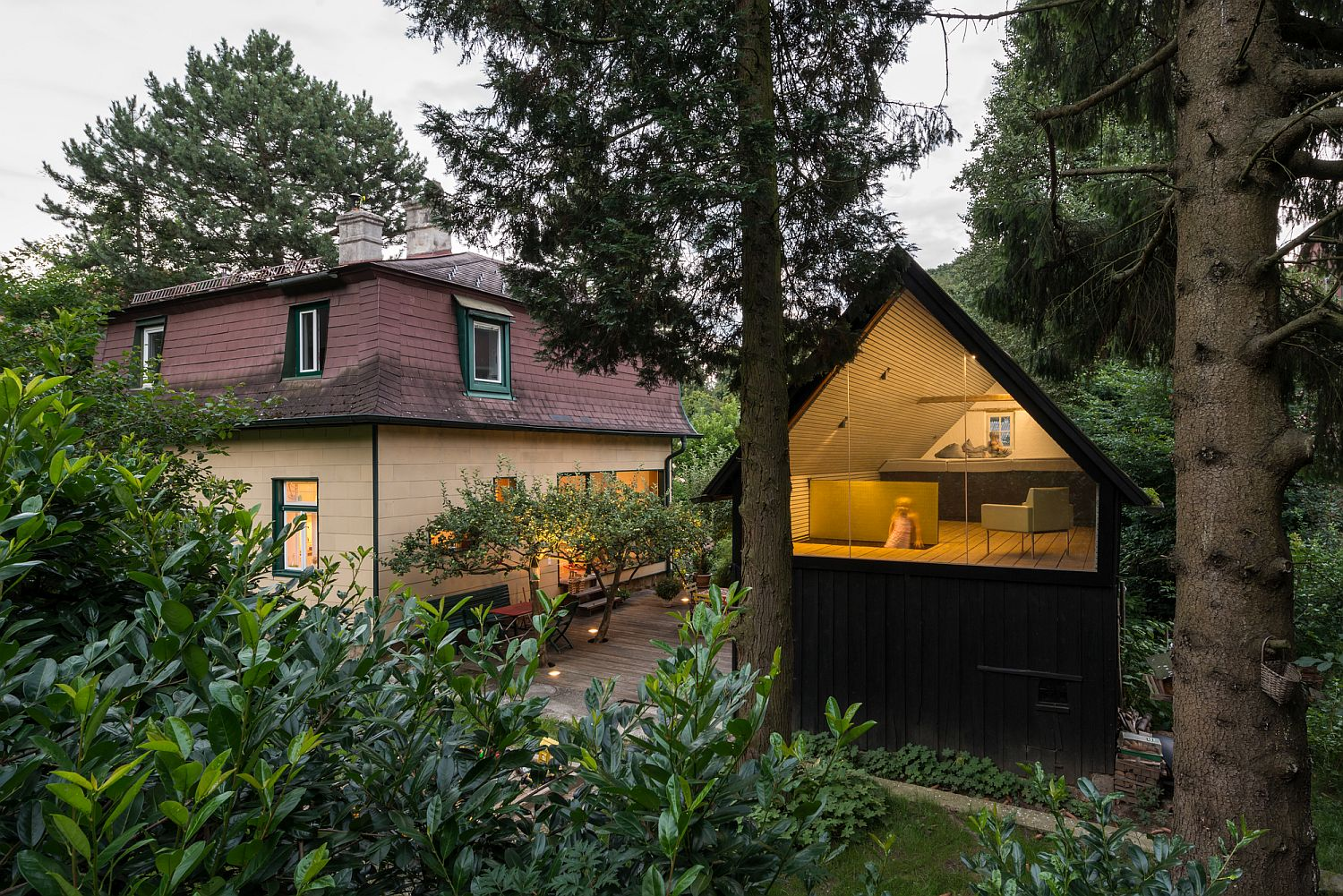 Smart Makeover of 1930?s Austrian Home and a Magical Backyard Escape