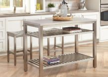Brushed-satin-stainless-steel-kitchen-island-with-matching-bar-stools-217x155