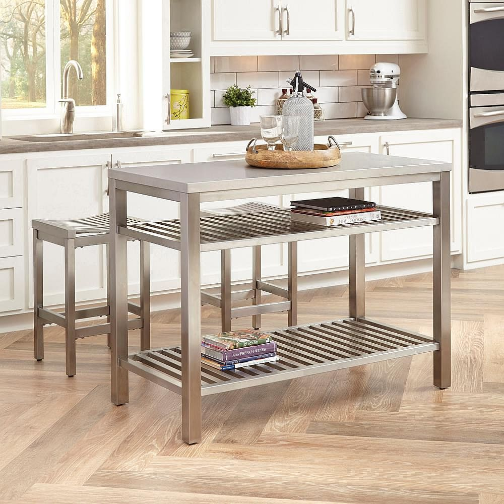 Stainless Steel Modern Counter Stool