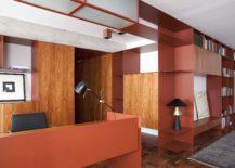 Burgundy-metallic-sheet-morphs-into-various-forms-throughout-the-apartment-217x155
