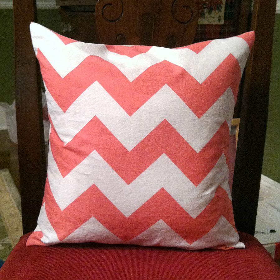 Chevron pattern DIY pillow idea