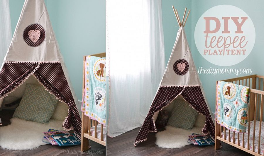 Chic DIY play tent