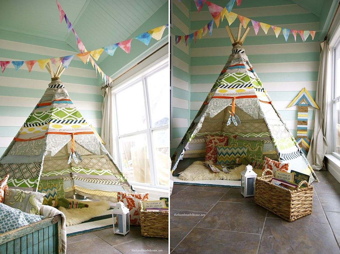 15 DIY Teepees for Fun Kids' Playrooms