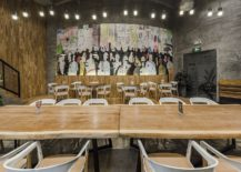 Colorful-wall-mural-and-edgy-wooden-tables-inside-the-Original-Bakery-217x155