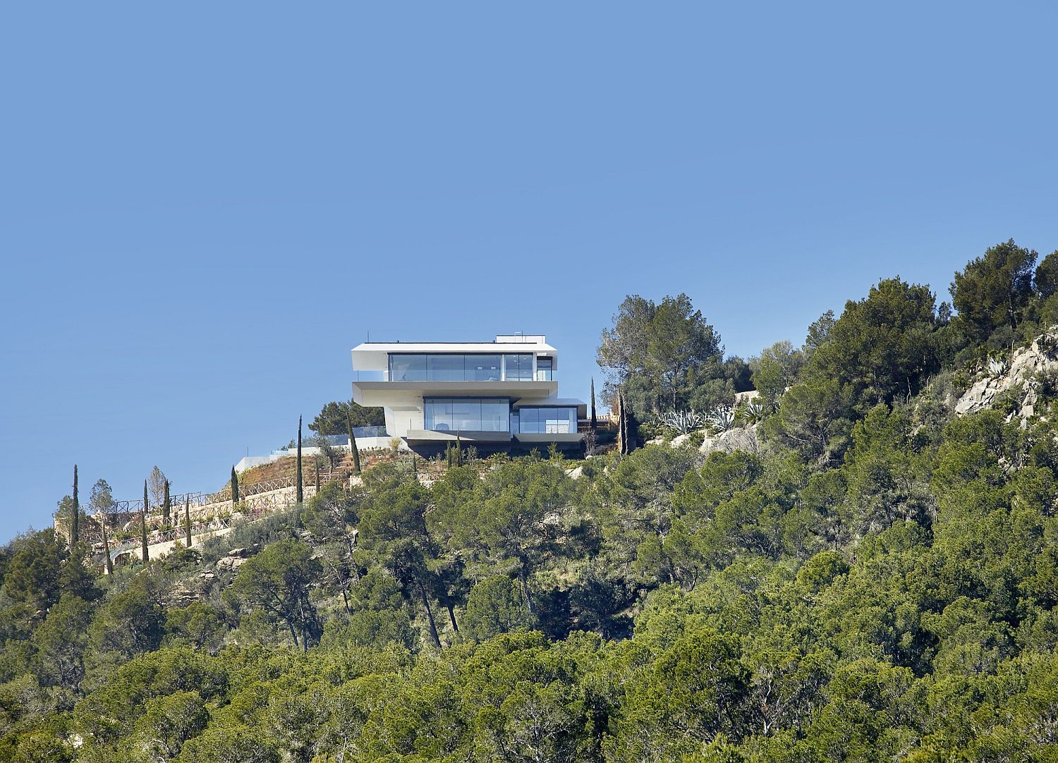 Contemporary home on hill top in Mallorca